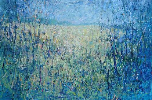 Woven Landscape, 24x36x2 inches
