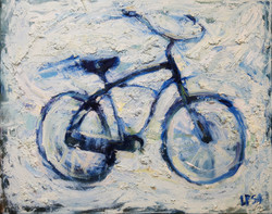 I Want to Ride My Bicycle, 16x20