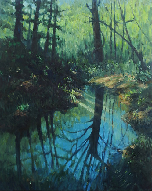 Woodland Reflections, 30x24x2 inches
