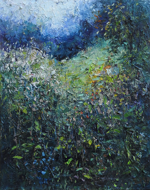 Meadow In the Woods, 20x16 inches