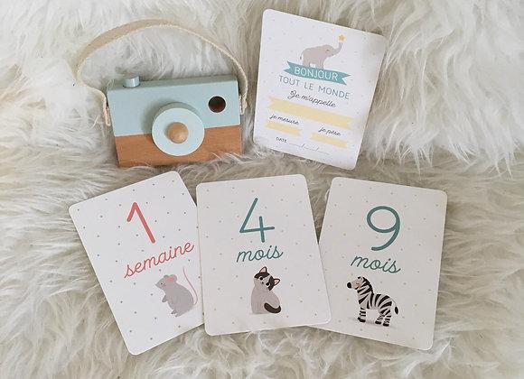 Coffret cartes souvenirs Premiers mois