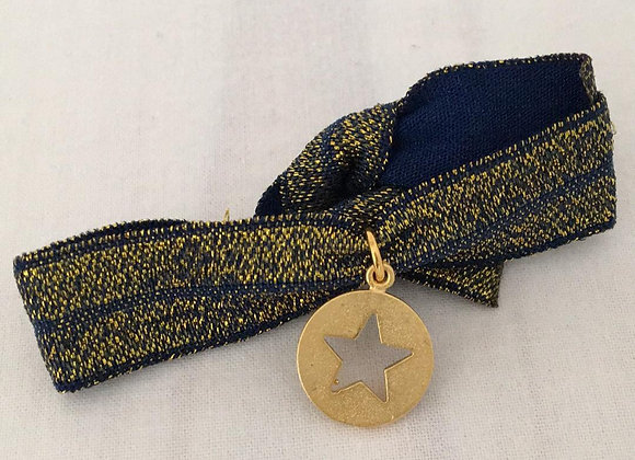 Bracelet bleu étoile