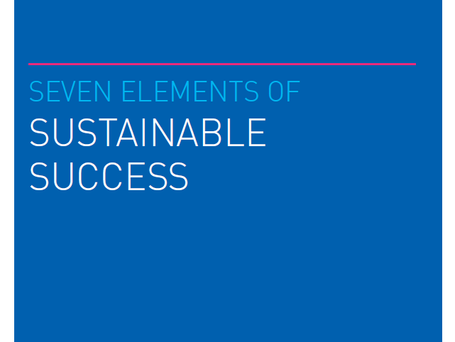 Seven elements of sustainable success
