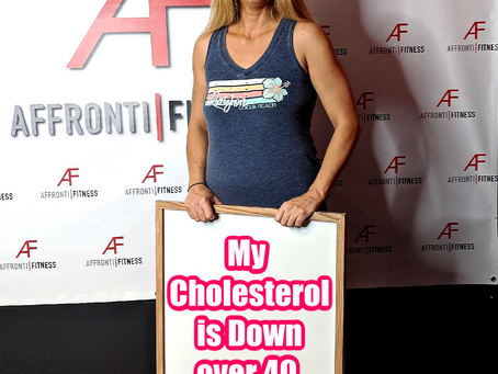 My cholesterol is down over 40 points!