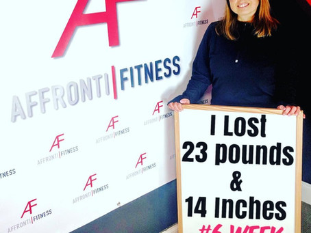 I lost 23 Pounds & 14 inches with the Affronti Fitness 6 Week Challenge!