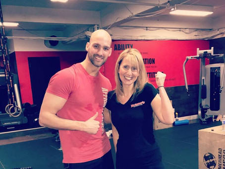 Great workout with Linda!