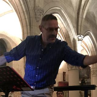 En répétition à Samois, septembre 2019.