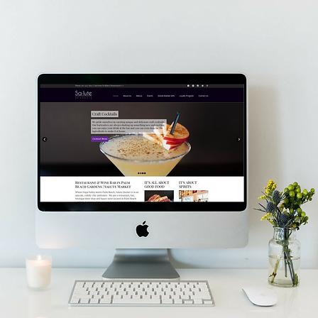 Website Design for Salut Market in Palm Beach Gardens, FL by Luxe Lara Design