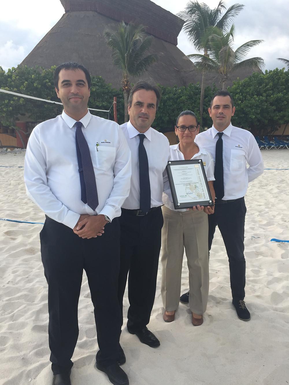 Bahia Principe Rivera Maya Resort obtiene certificación de playas limpias