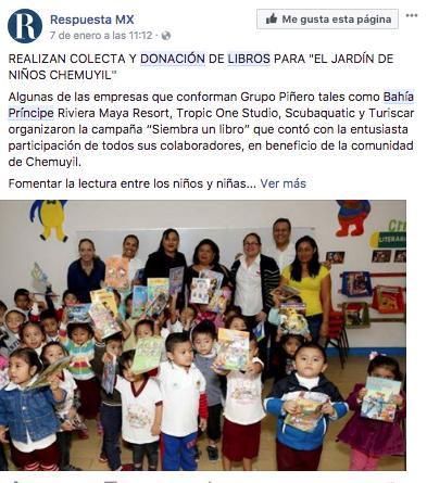 Nota Donación de libros
