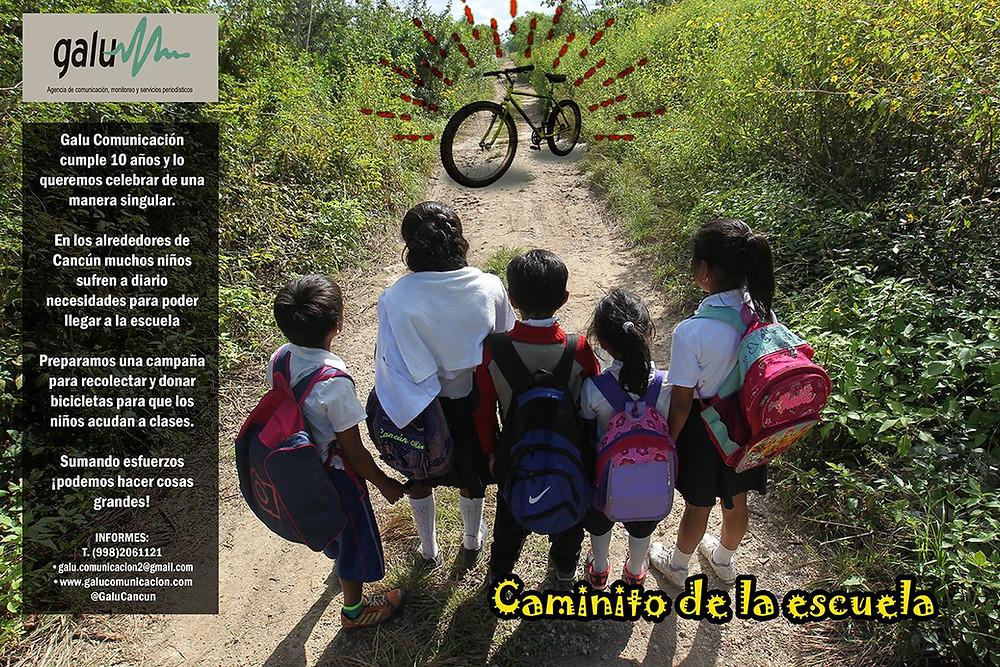 Campaña Caminito de la escuela galu comunicación