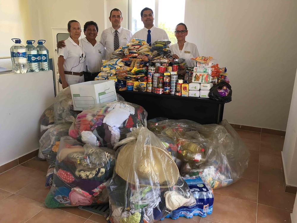 Campaña de donación Tormenta tropical Franklin  en Bahia Principe Riviera Maya
