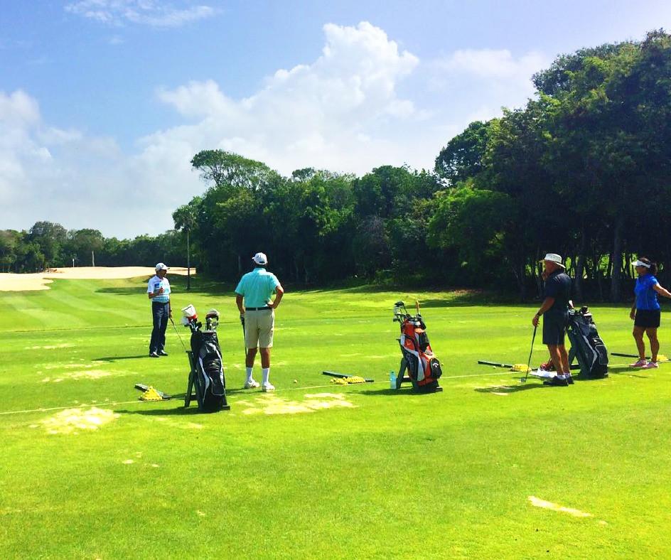 Clínica de golf by Tony Planells Bahia Principe Riviera Maya Golf Club.