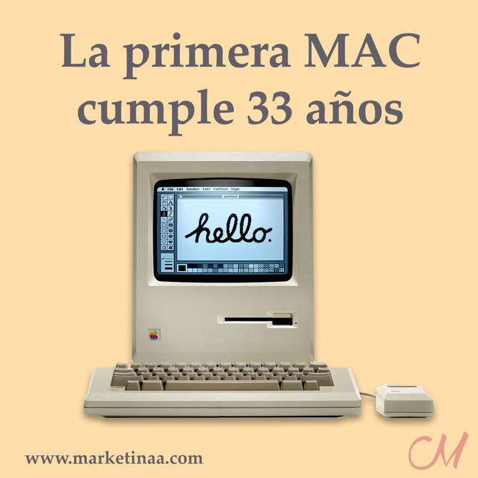 Hoy cumple 33 años la primer Mac
