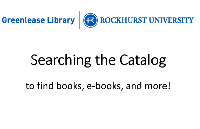 Video: Searching the Catalog
