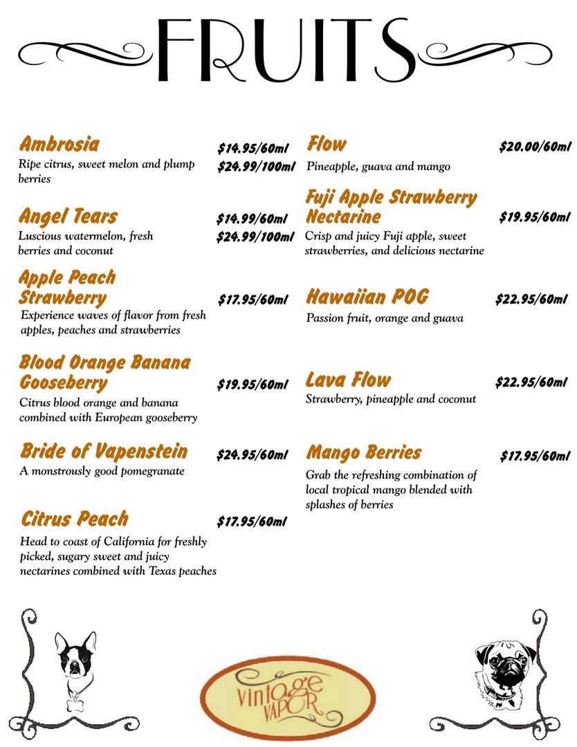 Fruit Flavors Pg. #1