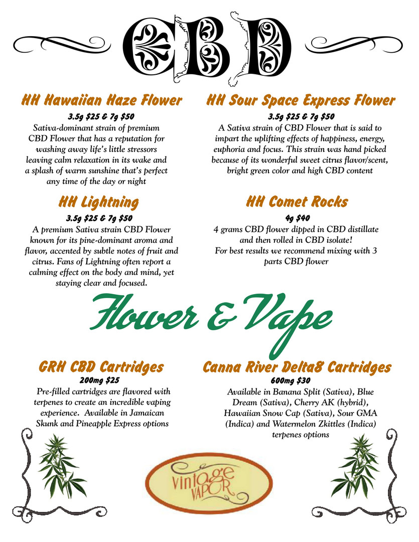 CBD Flower & Vape
