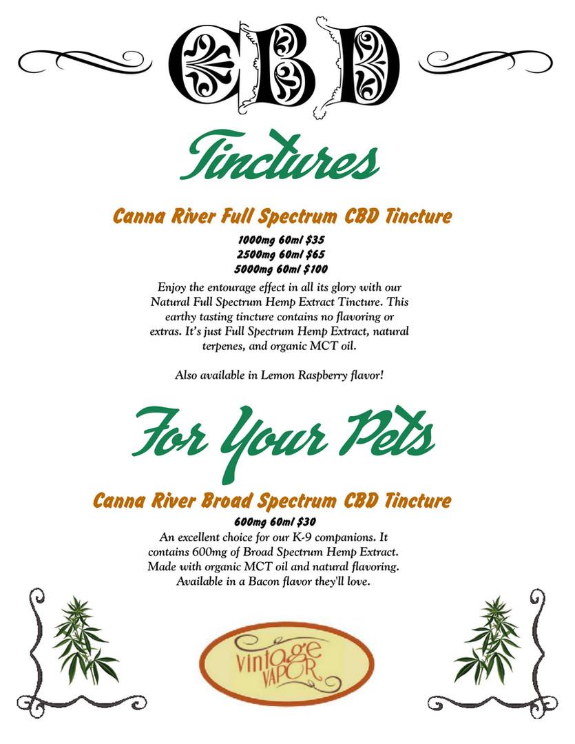 CBD Tinctures & Pet Products