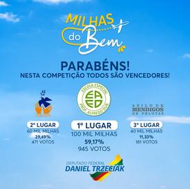 ENTREGA DOS PRÊMIOS DO 'MILHAS DO BEM'