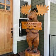 Front Door Moose Welcome