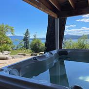 Hot Tub at Back of House Basement Level