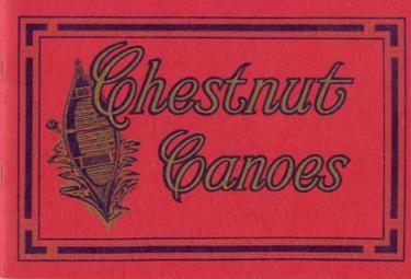 Chestnut Canoe Company Catalog Reprint