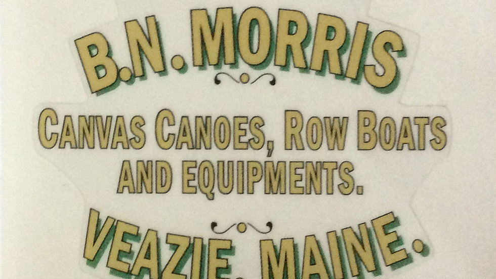 B.N. Morris Deck Decal - Canvas Canoes, Rowboats and Equipments