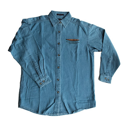 Blue Denim Shirt with Embroidered WCHA Logo