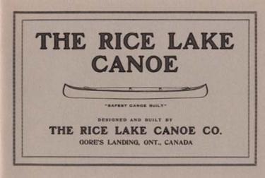 Rice Lake Canoe Company Catalog Reprint