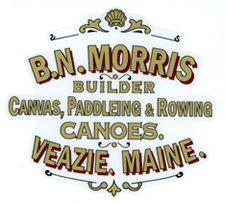 B.N. Morris Deck Decal - Canvas, Paddleing & Rowing Canoes