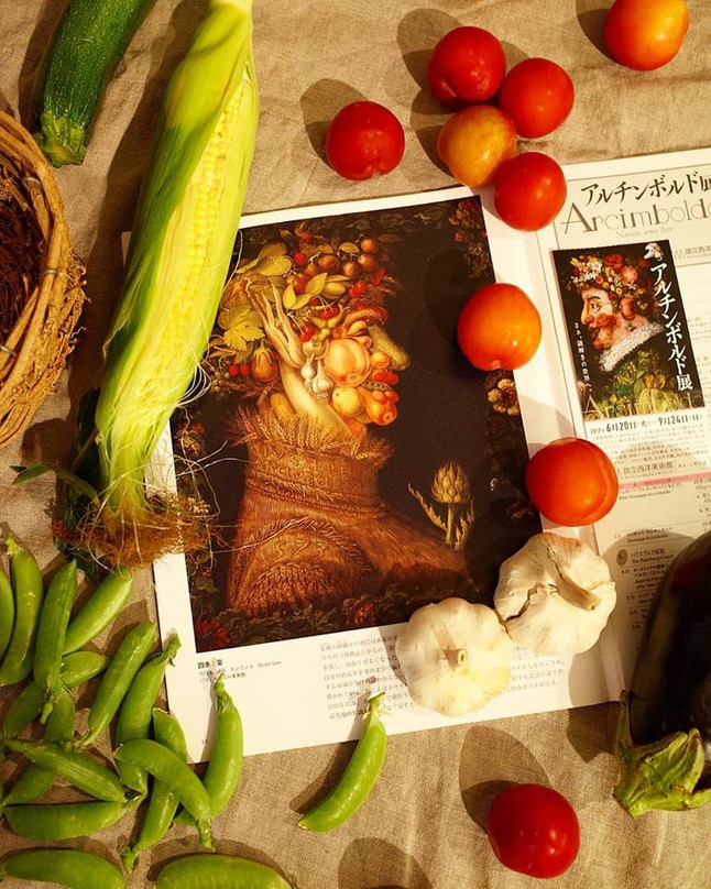 【EAT×ART】アンチンボルドと夏野菜
