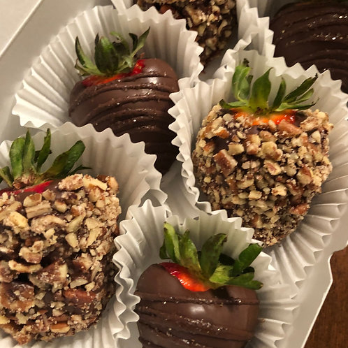 Chocolate Covered Strawberries - Pecans