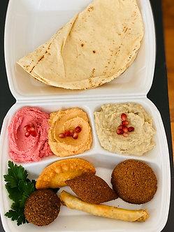 Assiette mezzés libanais