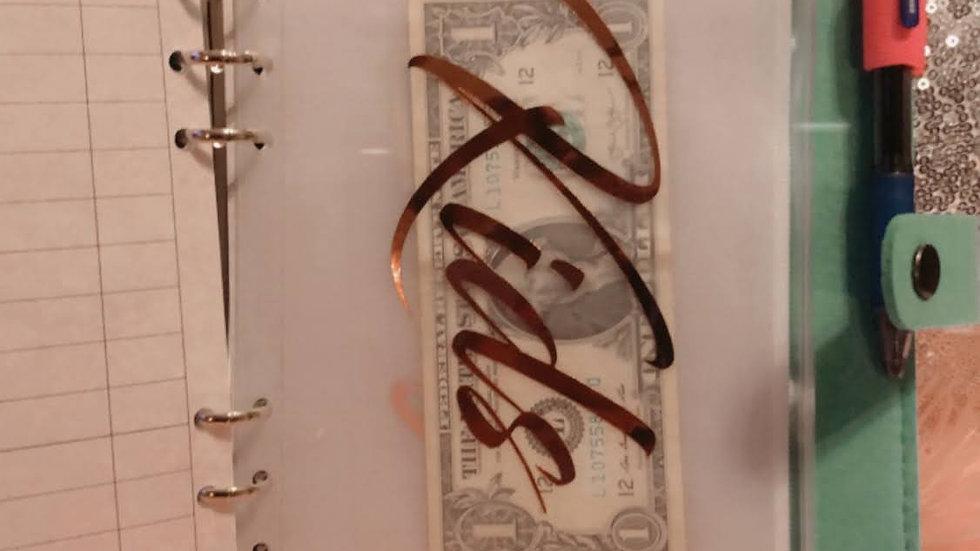Money Envelope Zip Pouch