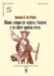 portada de libro, Antonio E. de Pedro, grabado, mujer con arco y flecha