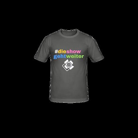 T-Shirt mit dem dieshowgehtweiter-Logo
