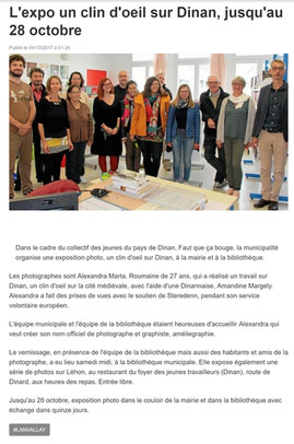 2017.10.04 Ouest France - Exposition Lan