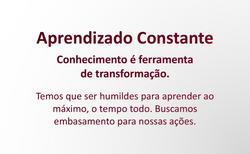 APRENDIZADO CONSTANTE
