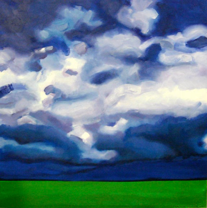 thumbnail_Clouds and Green Field, 30x30,