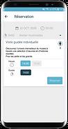 choix créneaux de réservation en ligne app