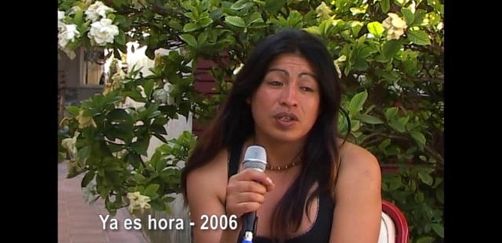 Diana Sacayan para el documental Ya es Hora