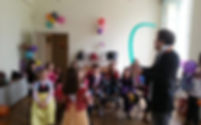 Spectacle pour enfant, sculptures sur ballons