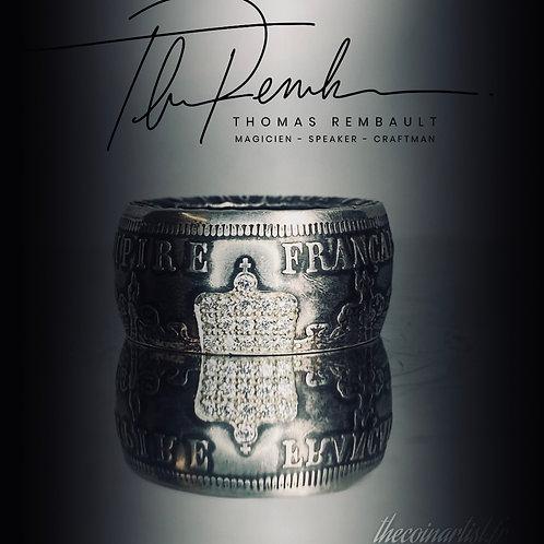 Napoleon III  20 frcs Argent 16 diamants