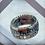 Thumbnail: Bague Argent Napoleon III Grenats et Aigue Marine