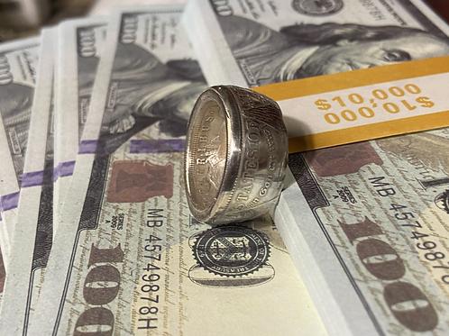 Bague dollar Argent Shinning Silver