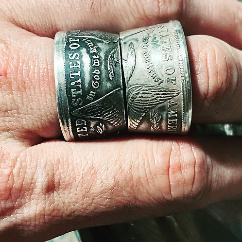 Bague Dollar Argent FIRE SCALES ou SILVER ICE.