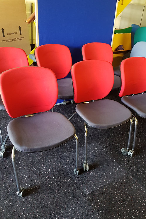 Orangebox Red Meeting Room chairs