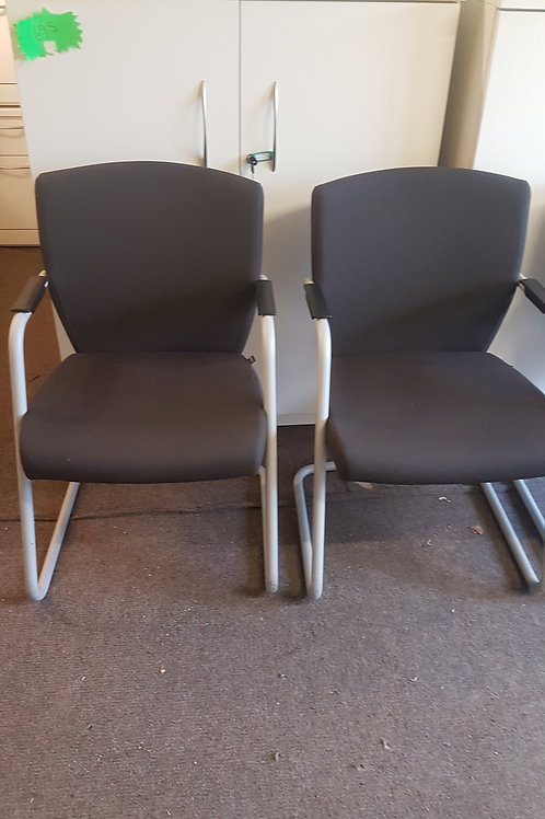 Pledge black office reception /meeting room chairs 16 available
