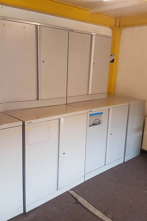 Bisley Grey metal cabinets  lockable with key.   10 available