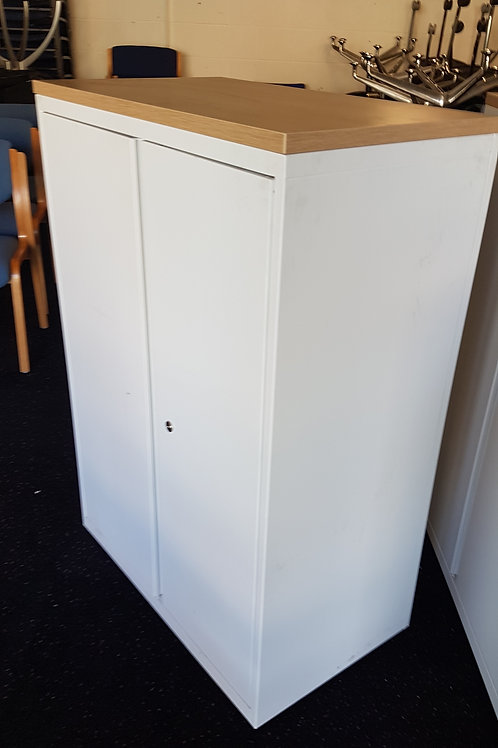 Steel White office storage cabinets 3 available all lockable with keys